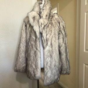 NWT ASOS faux fur coat sz 8